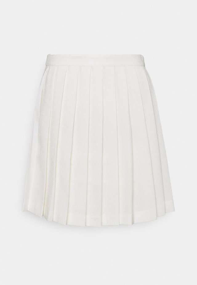 PLEATED MINI SKIRT - Minijupe - off white