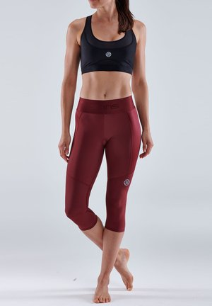 3/4 sports trousers - burgundy