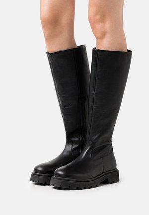 SLFEMMA HIGH SHAFTED BOOT  - Platform boots - black