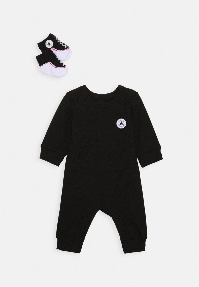 Converse - LIL CHUCK COVERALL SET UNISEX - Jumpsuit - black
