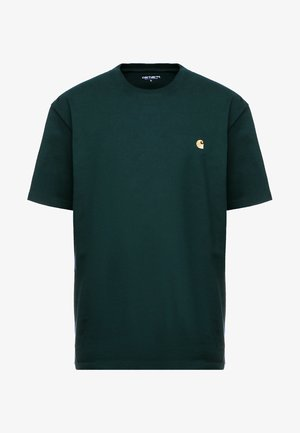 CHASE  - Basic T-shirt - bottle green/gold