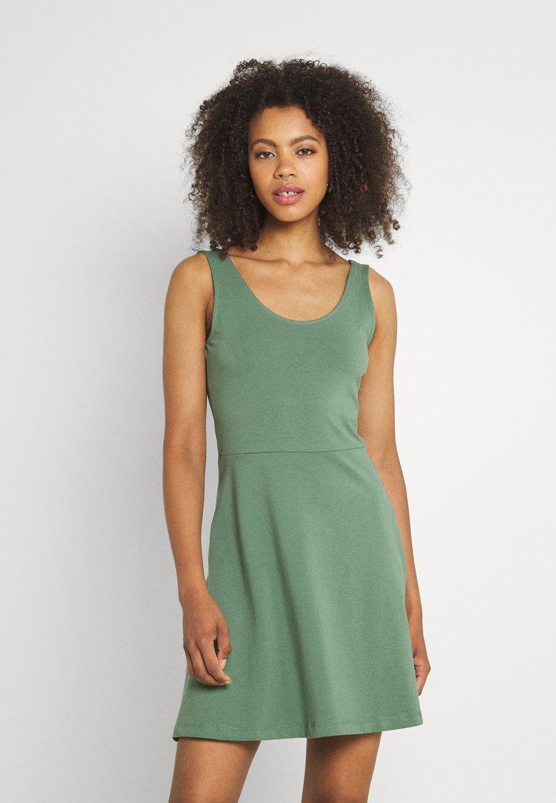 Even&Odd - Sukienka z dżerseju - light green