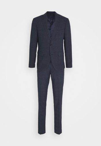 CHECK SUIT - Oblek - ink blue