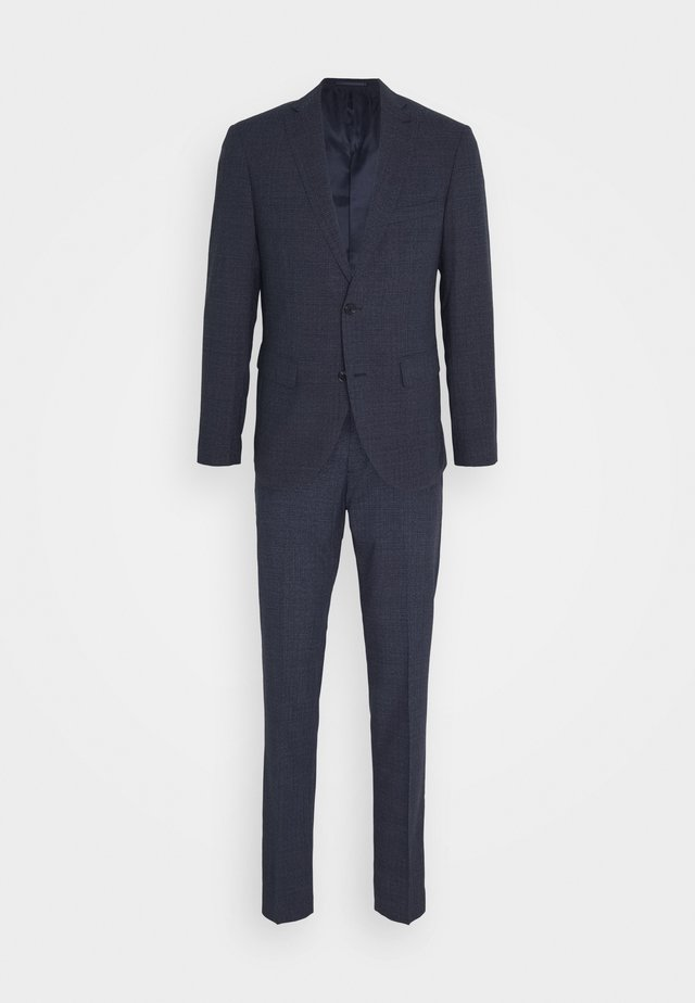 CHECK SUIT - Costume - ink blue