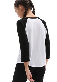 Vans - FLORAL FLAME - Long sleeved top - white/black - 1