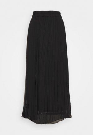 LAURA SKIRT - Pleated skirt - black dark