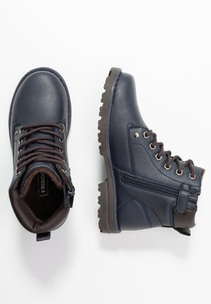 Lace-up ankle boots - dark blue