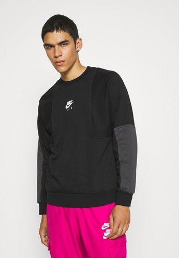 AIR CREW - Sweatshirt - black/anthracite/white