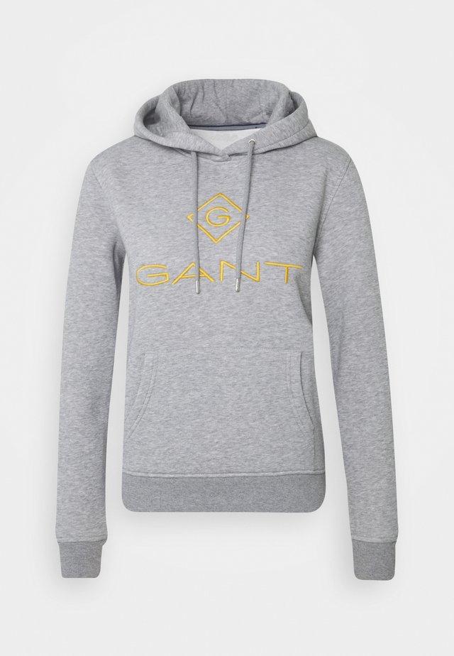 LOCK UP HOODIE - Bluza z kapturem - grey melange