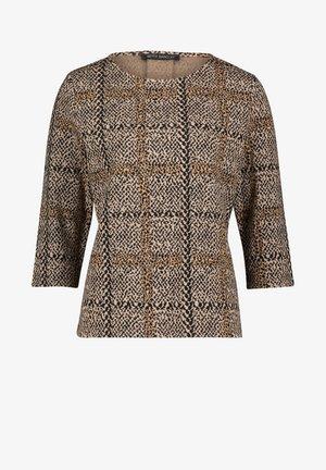Sweatshirt - camel/black