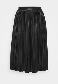 NMHILL - Plisovaná sukně - black