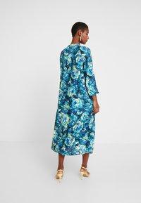 Rich & Royal - DRESS WITH PIN TUCKS - Day dress - multi-coloured/dark blue/neon green - 3