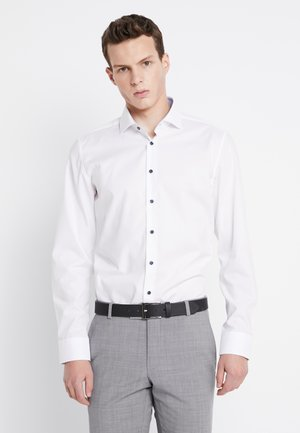 SLIM SPREAD PATCH - Formal shirt - weiß/hellblau