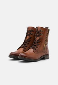 Bugatti - RONJA - Lace-up ankle boots - cognac - 2