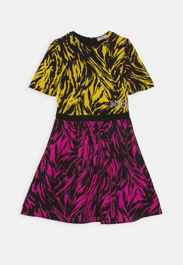 ABITO - Jersey dress - intense yellow