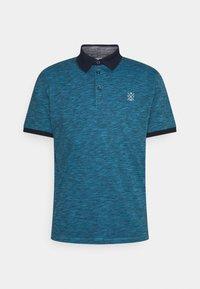 TOM TAILOR - FINE STRIPED WITH DETAILS - Polo shirt - aquarius blue - 0