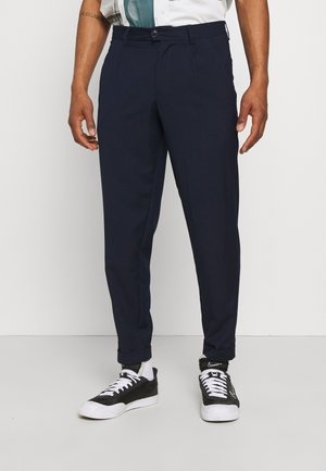 JJIBILL JJJORDY CROPPED - Pantalon classique - navy blazer melange
