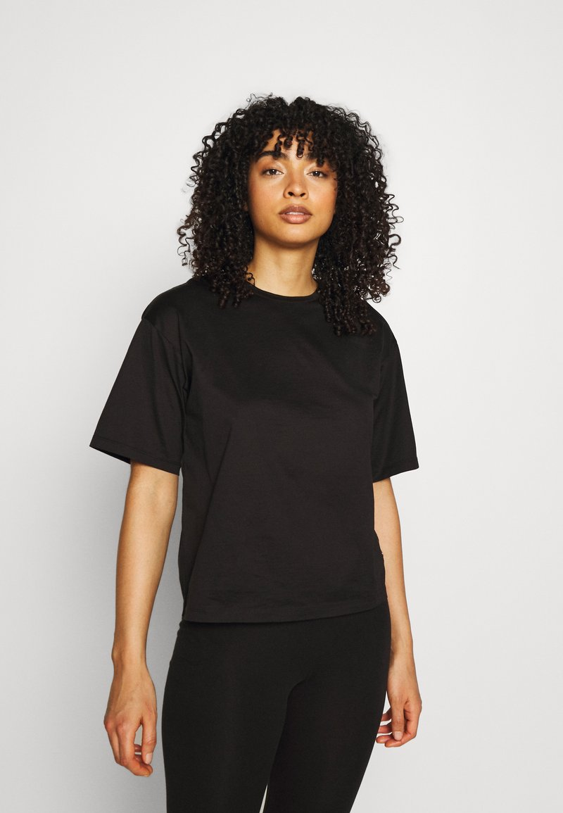 KARL LAGERFELD - MERCERIZED LOGO  - Nachtwäsche Shirt - black