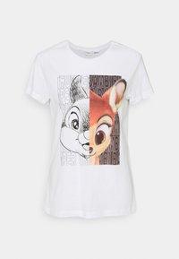 JDY - JDYANE LIFE PRINT - Print T-shirt - bright white - 0