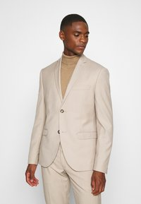 Isaac Dewhirst - PLAIN LIGHT SUIT - Completo - light brown - 2