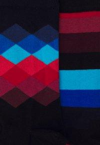 Happy Socks - STRIPES FADED DIAMOND 2 PACK - Socks - multi-coloured - 2