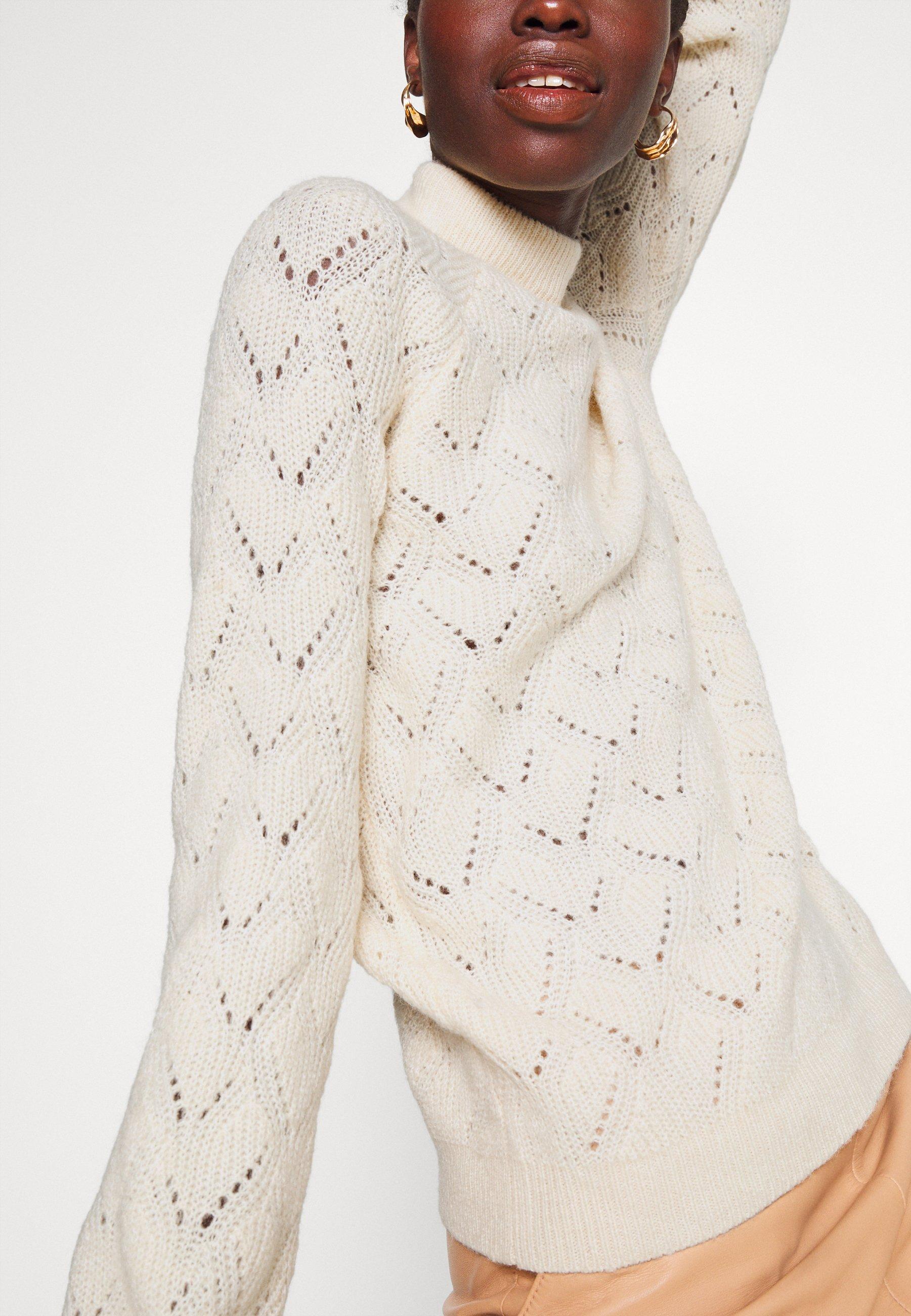 Object Tall OBJCLAIRE - Trui - sandshell melange - Dames jas Nieuw
