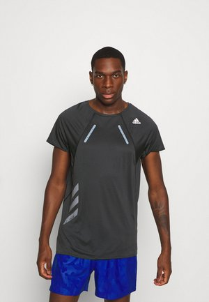 ADIZERO HEAT RDY RUNNING SHORT SLEEVE TEE - Camiseta estampada - black