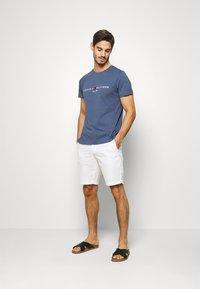 Tommy Hilfiger - LOGO TEE - T-shirt imprimé - blue - 1