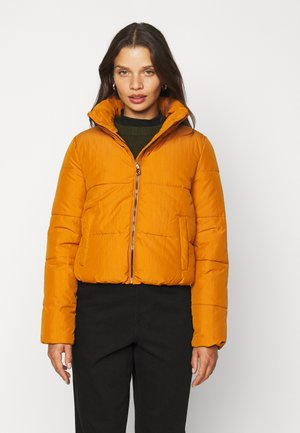 ONLDOLLY SHORT PUFFER JACKET - Light jacket - pumpkin spice