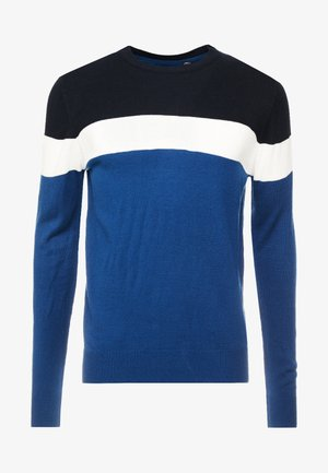 MAXON - Neule - steel blue/vintage white/midnight navy