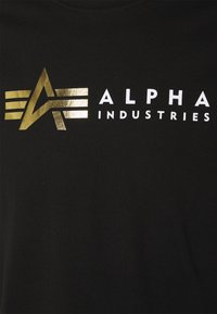 Alpha Industries - FOIL PRINT - Printtipaita - black - 2