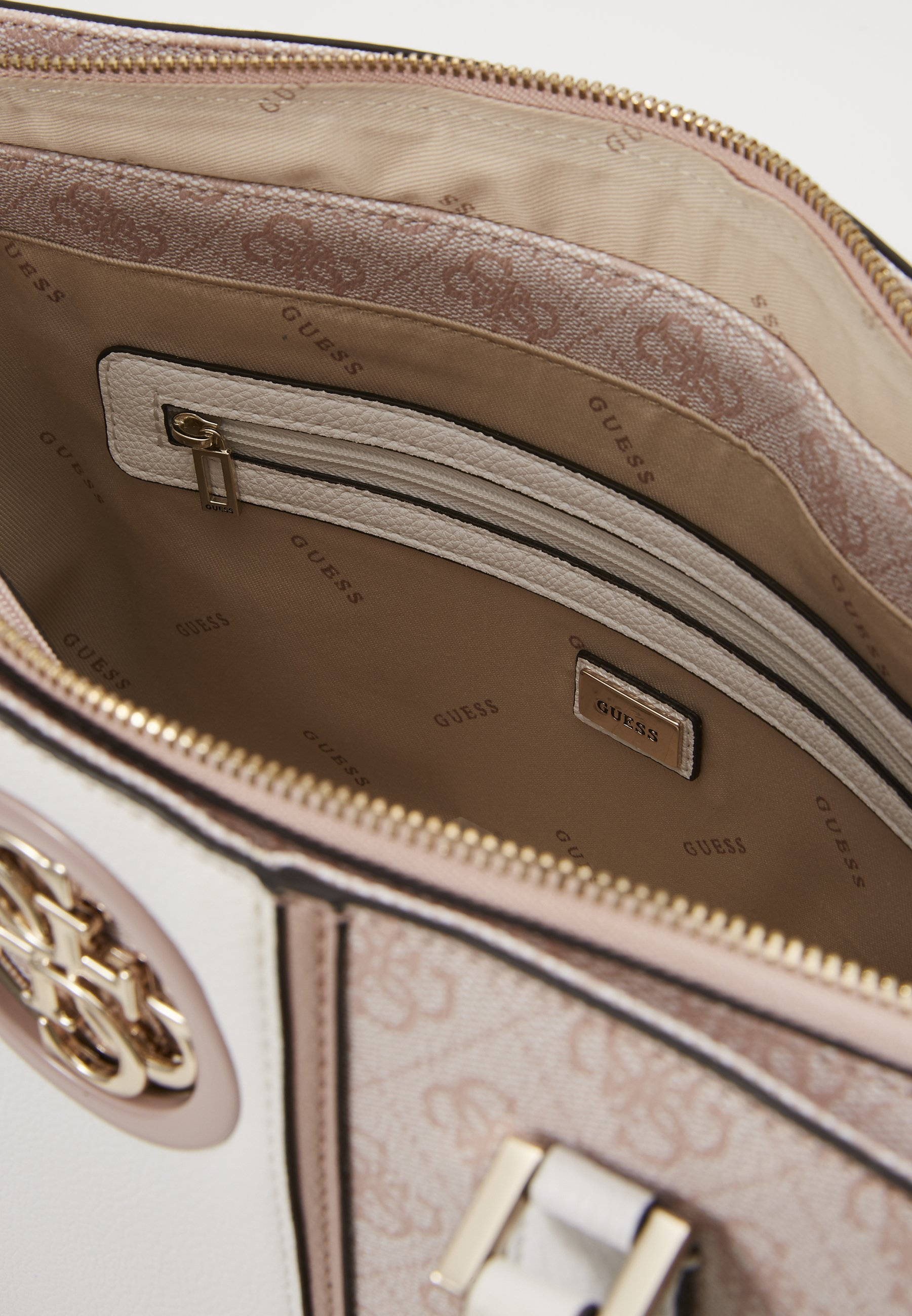 Guess Open Road Luxury Satchel - Håndtasker Blush