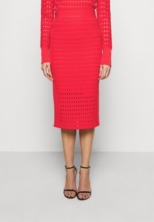 CLASSIC SKIRT - Pencil skirt - red lacquer