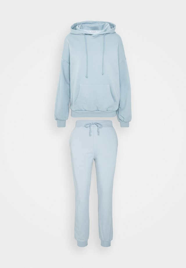 HOODED LOUNGE SET  - Pyjama - blue