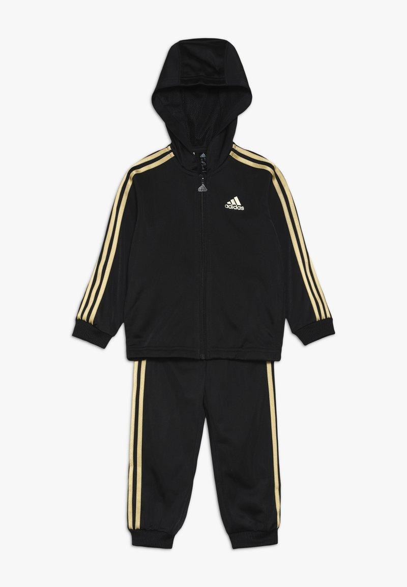 adidas Performance - SHINY  - Tracksuit - black/gold