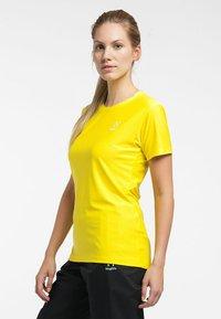 Haglöfs - L.I.M TECH TEE - Print T-shirt - signal yellow - 2