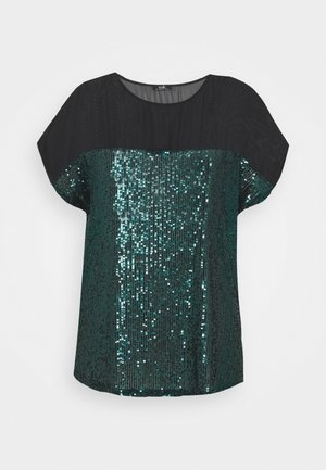 SEQUIN TEE - Pusero - green
