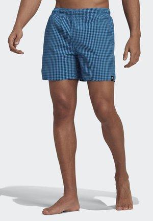 CHECK BADESHORTS - Swimming shorts - turquoise