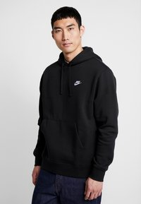 Nike Sportswear - CLUB HOODIE - Felpa con cappuccio - black/white - 0