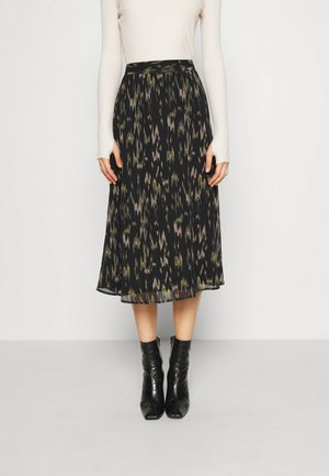BLURRY VIOLETTA SKIRT - Áčková sukně - black
