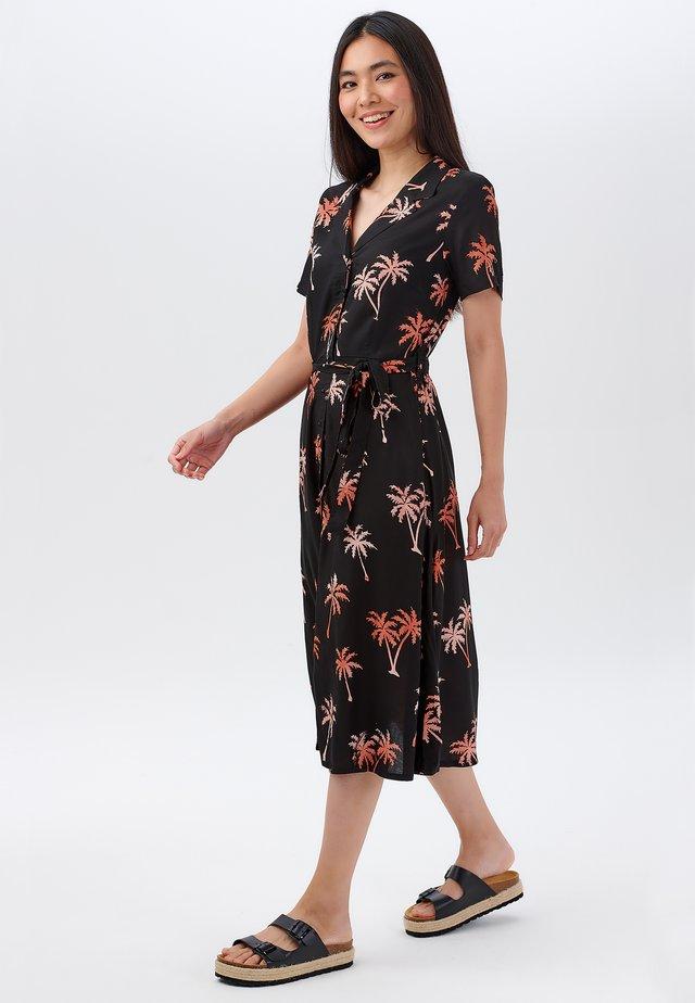 Sukienka koszulowa - black, light red