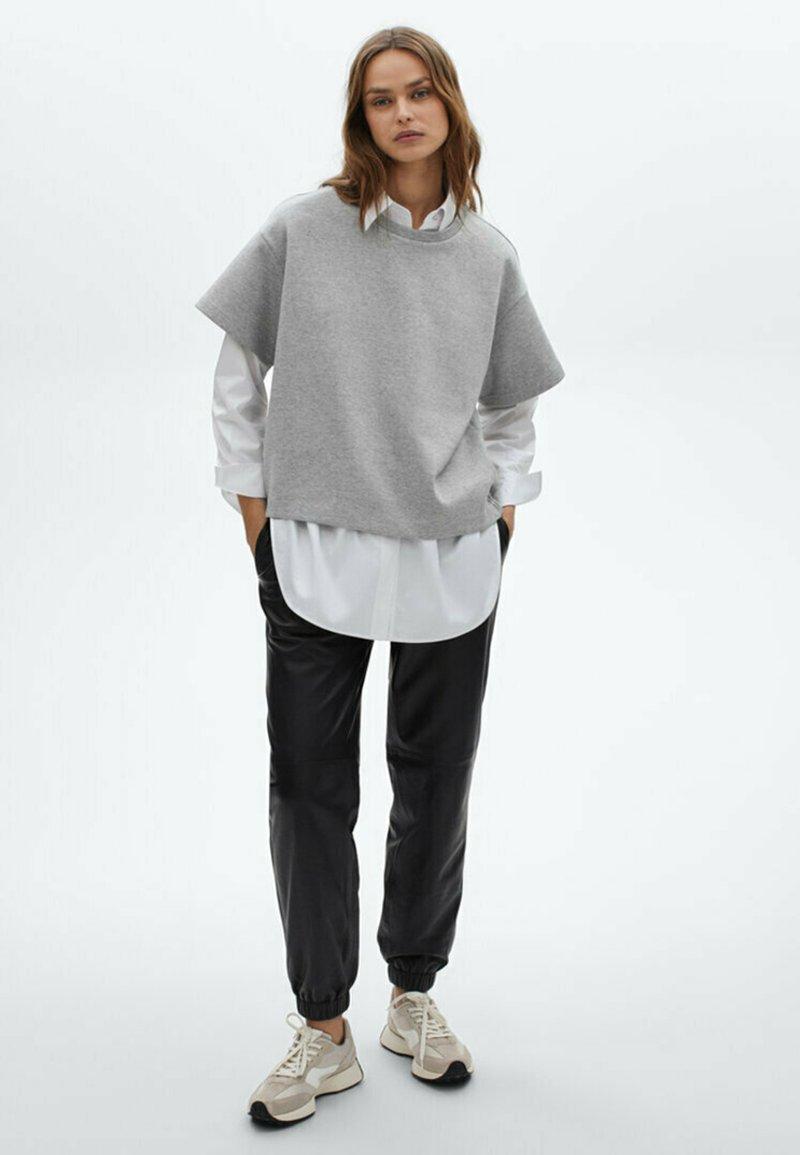 Massimo Dutti - Basic T-shirt - light grey