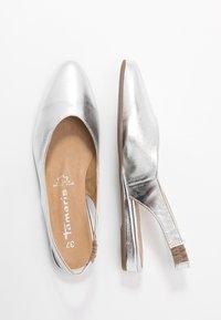 Tamaris - Slingback ballet pumps - silver - 3