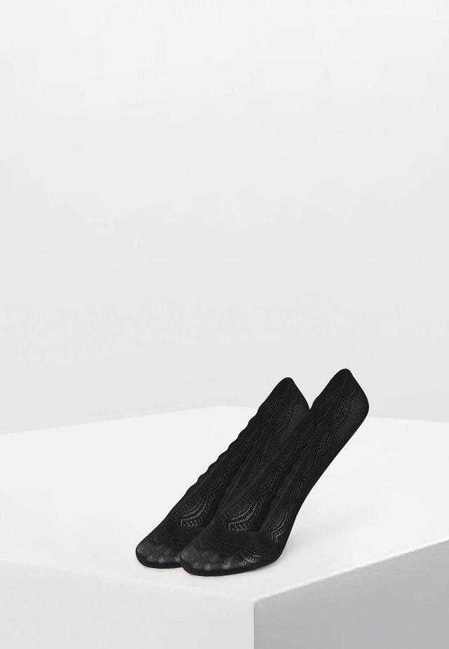 2 PAAR FÜSSLINGE MIT SPITZE 32879487 - Socks - black