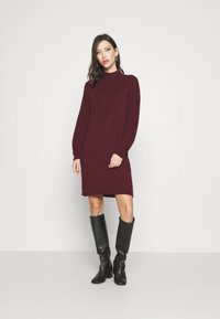 ONLY - ONLPIL HIGHNECK DRESS  - Jumper dress - port royale - 0