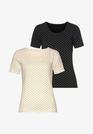 2PACK - Print T-shirt - weiß /schwarz