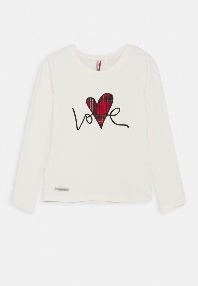 GIRLS LONGSLEEVE LOVE - Pitkähihainen paita - creme