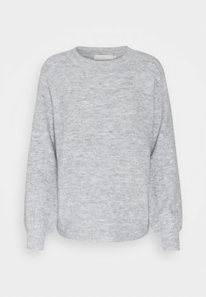 PCPERLA  - Strikkegenser - light grey melange