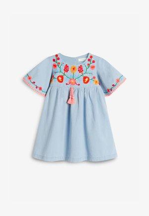 Korte jurk - blue denim