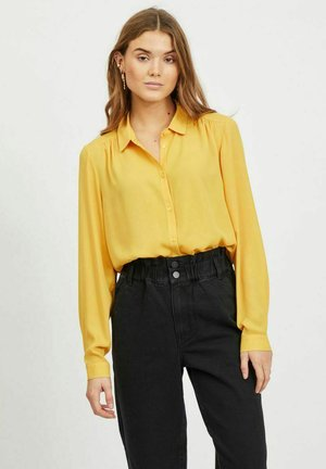 Button-down blouse - spicy mustard